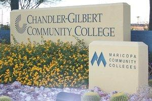 Chandler Gilbert Community College Sign